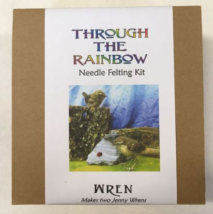 Through the Rainbow Needle Felting Wren Kit